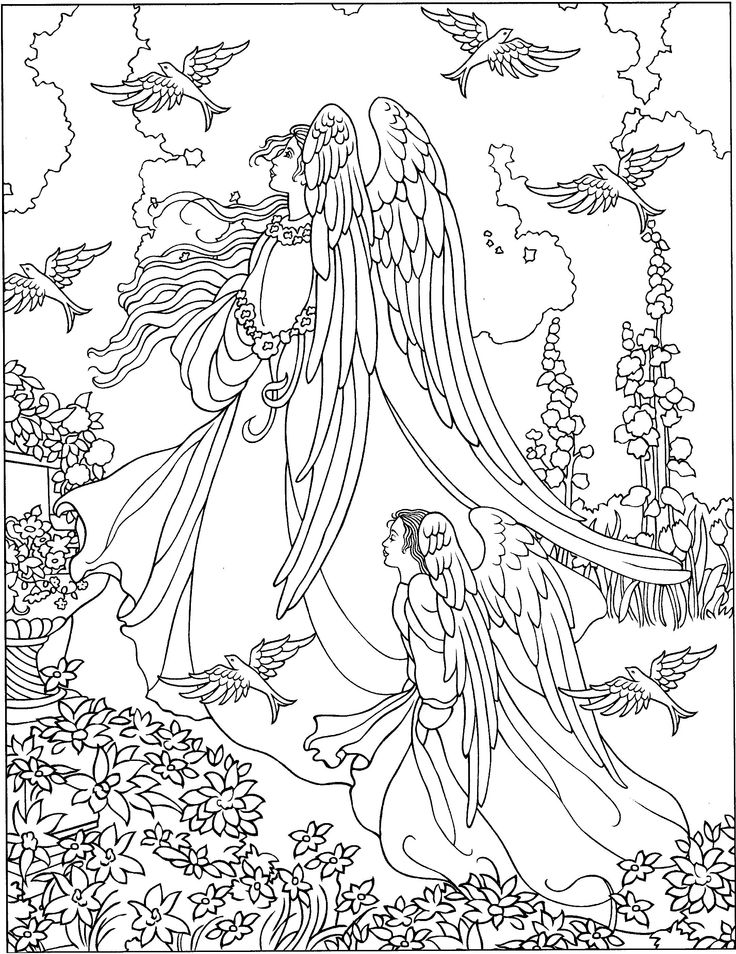 warrior angel coloring pages - photo#27