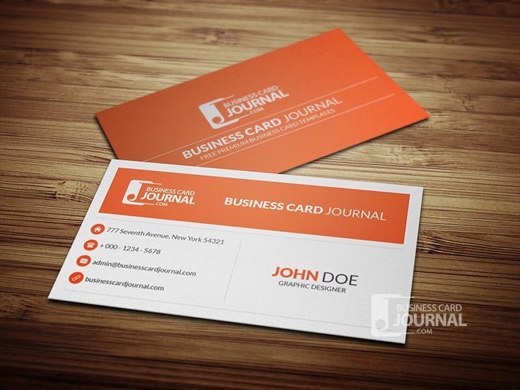 minimal corporate business card template 0013 graphic design