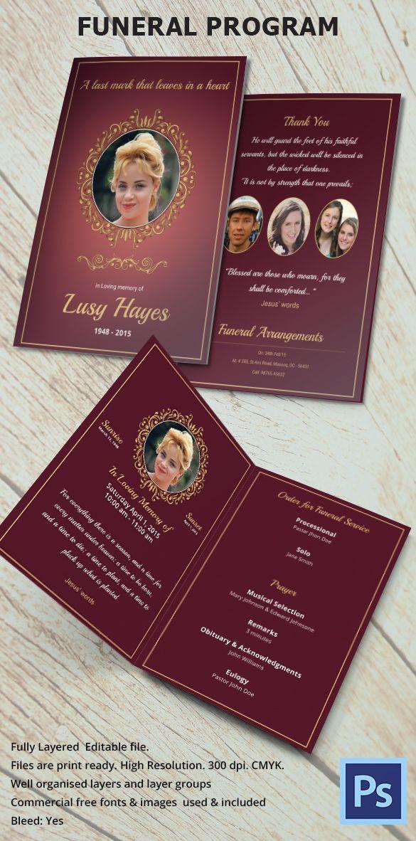 The 25+ best Sample funeral program ideas on Pinterest Wedding - funeral brochure template