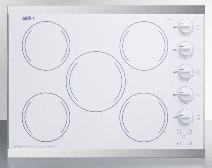 Summit Crs5b14w Electric Cooktop Electrical Safety Trim Color