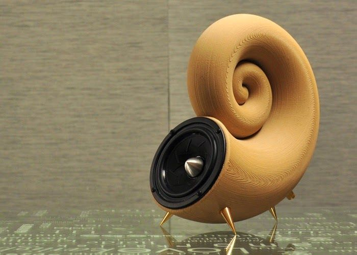 Akemake 3d printed speaker created using timberfill wood for When was 3d printing invented