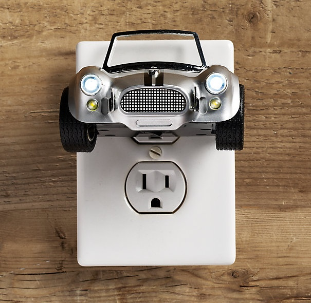 race car nightlight from Restoration Hardware. awesome! :)