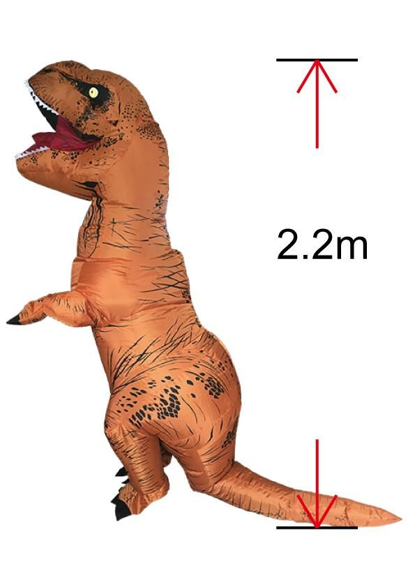 ADULT T-REX INFLATABLE Costume $67.99 Jurassic World FREE SHIPPING AU & USA WIDE