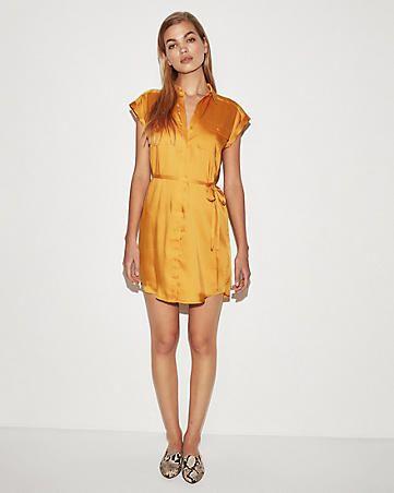 8cdb5597f7e Solid Short Sleeve Shirt Dress