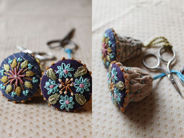 embroidered bell tassels
