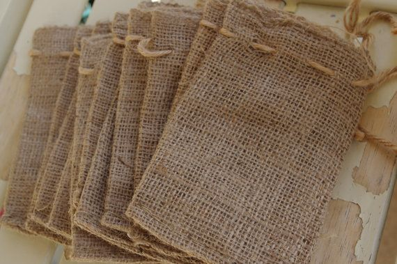 fill these burlap bags with caramels