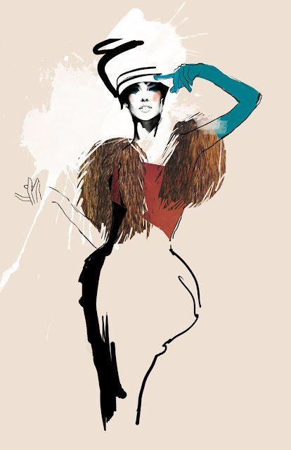 Svetlana Ihsanova is a Russian Fashion Illustrator