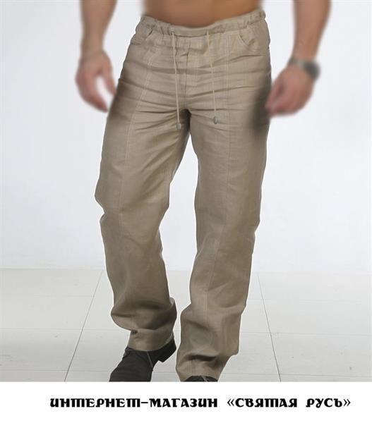 Магазины льняные мужские брюки штаны