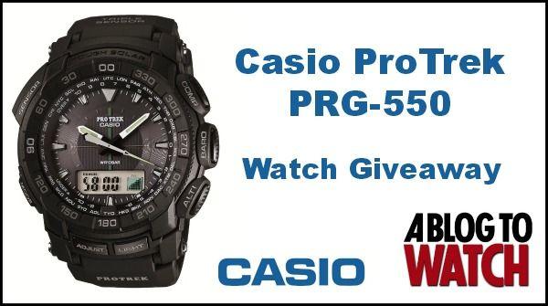 GIVEAWAY: Casio ProTrek PRG550 Watch