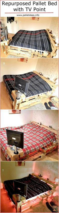 repurposed-pallet-bed-with-tv-point