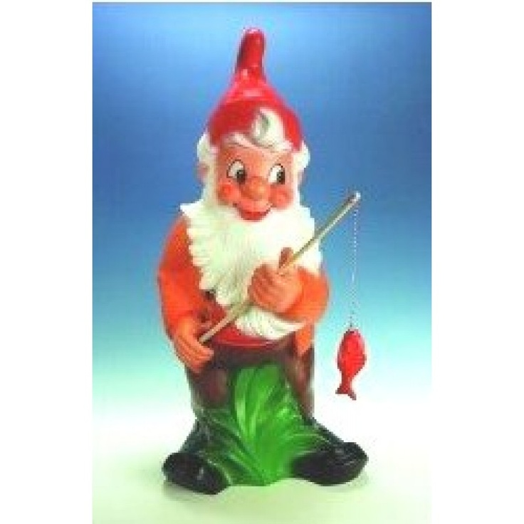 Fishing Giant Gnome, Garden Gnome, Dwarf, Gnome, Garden Figure, Garden  Decorations