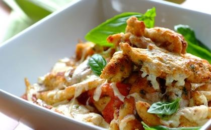 Chicken Strips with Mozzarella – an affordable crispy chicken treat.