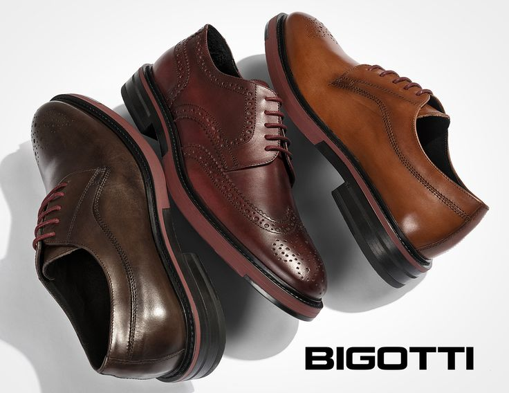#Bringing the #classic #Derby #silhouette up to date with the #colour #pop #sole, these #Bigotti #shoes are #smart and #incredibly #versatile.