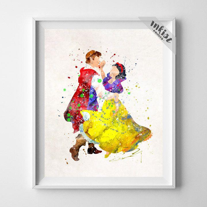 Snow White and Prince Florian, Snow White Print