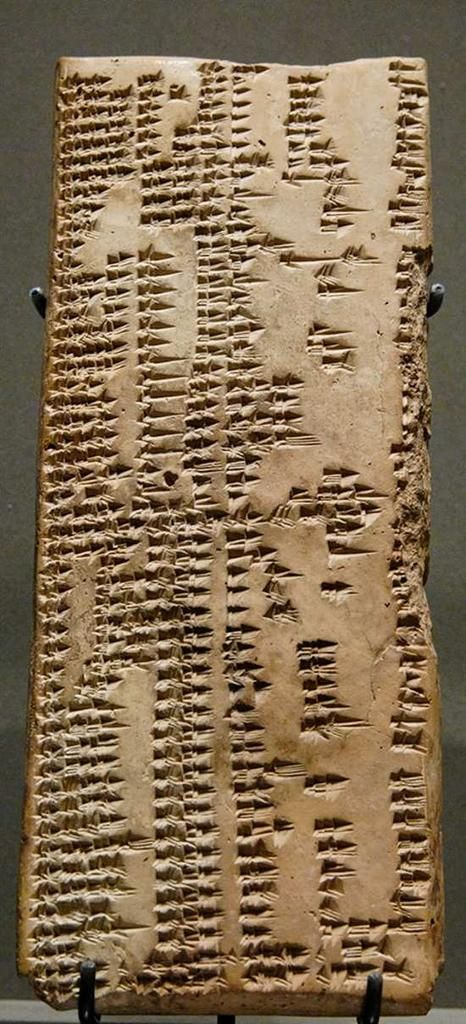 The oldest known dictionaries are cuneiform tablets from the Akkadian empire, 2nd millennium BC. Louvre Museum, Paris
