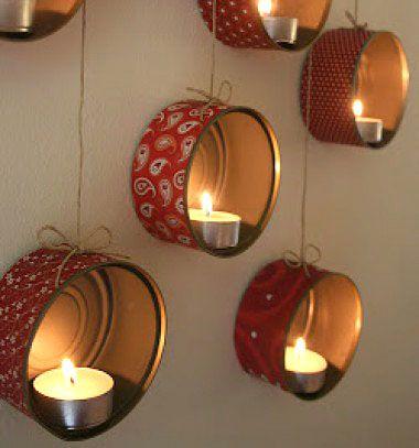 Wall tea candle holder from tin cans // Fali mécsestartó (vagy tároló) konzervdobozokból // Mindy - craft & DIY tutorial collection
