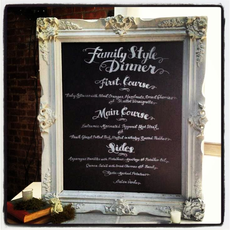 Family Style Wedding Menu | Wedding Gallery