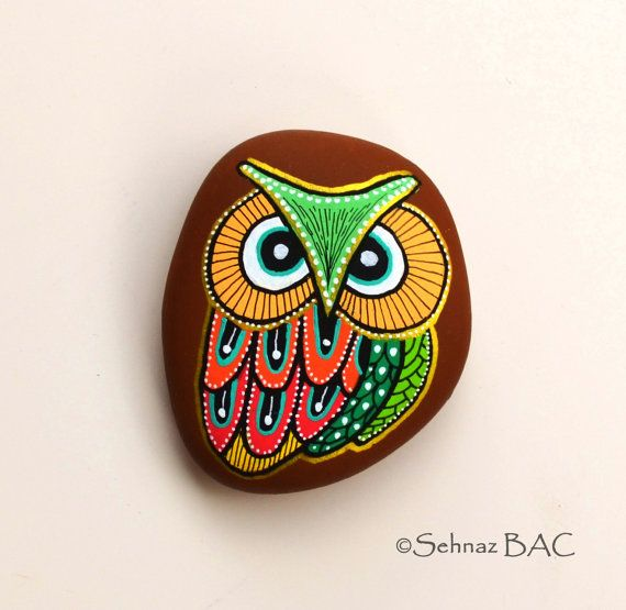 Hand Painted Stone Owl €20