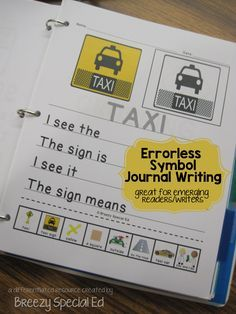 Community Signs 1- Leveled Journal Writing for Special Education
