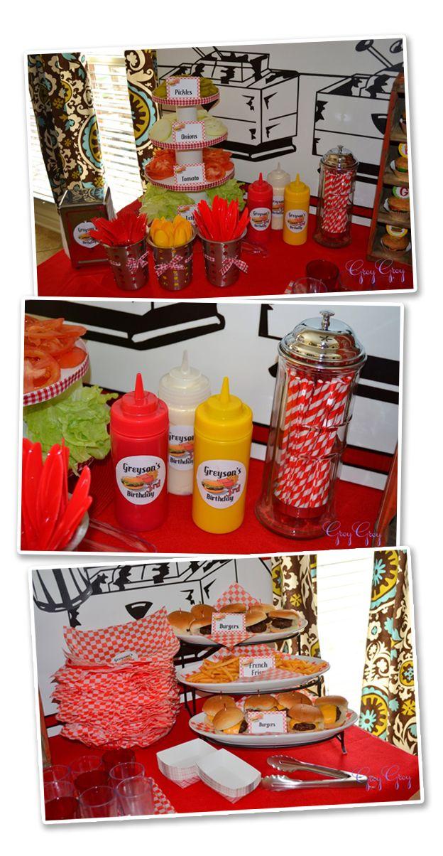 festa do hamburguer decoracao - Pesquisa Google