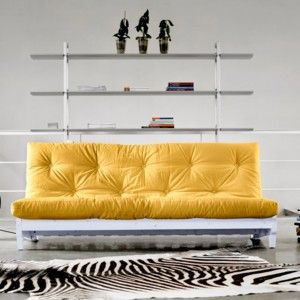 Rozkládací sofa Fresh bílá/amarillo