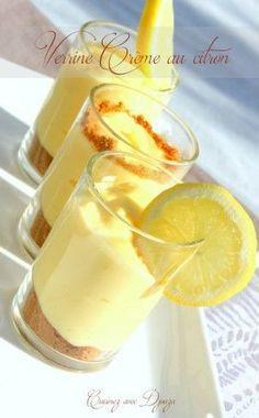 verrine speculoos crème au citron fromage philadelphia