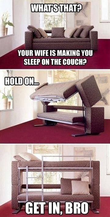 Hidden Bunk Bed Couch Hidden Compartment Pinterest