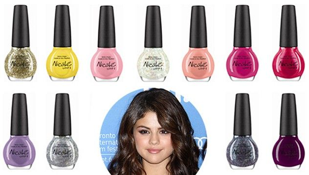Selena Gomez and Nicole by OPI - the amazing colors.