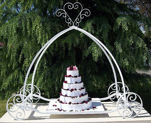 how to make a cinderella carriage cake stand