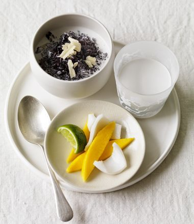 Black Sticky Rice with Coconut and Mango Recipe | In Season | Food | MiNDFOOD