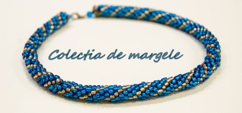 Bright stars - crochet beading necklace by Colectia de margele Please visit http://colectiademargele.ro/
