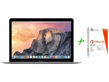 "Macbook Retina LED 12"" Apple MJY42BZ/A - OS X Yosemite + Pacote Aplicativo Office"