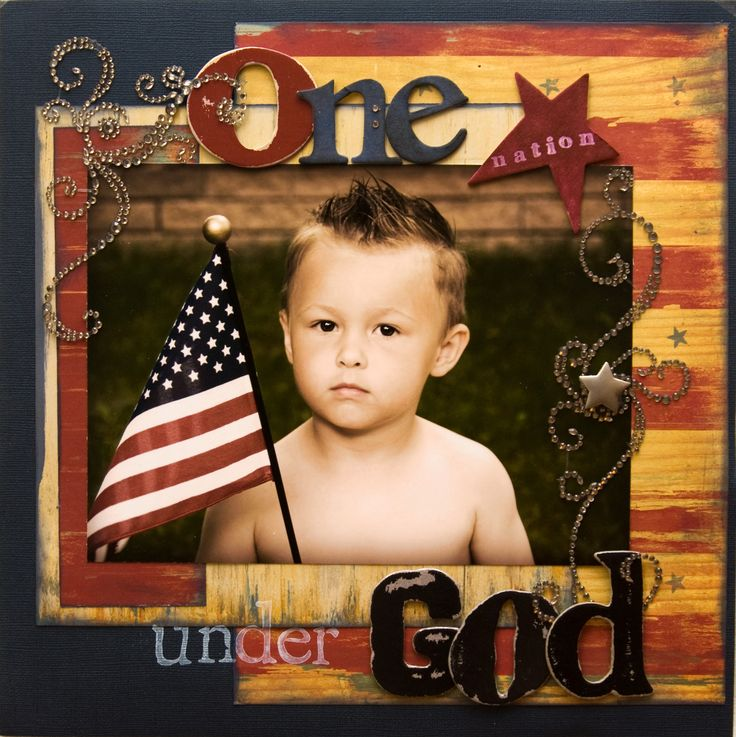 One Nation Under God - Scrapbook.com  What a great Service page for our Men. :)