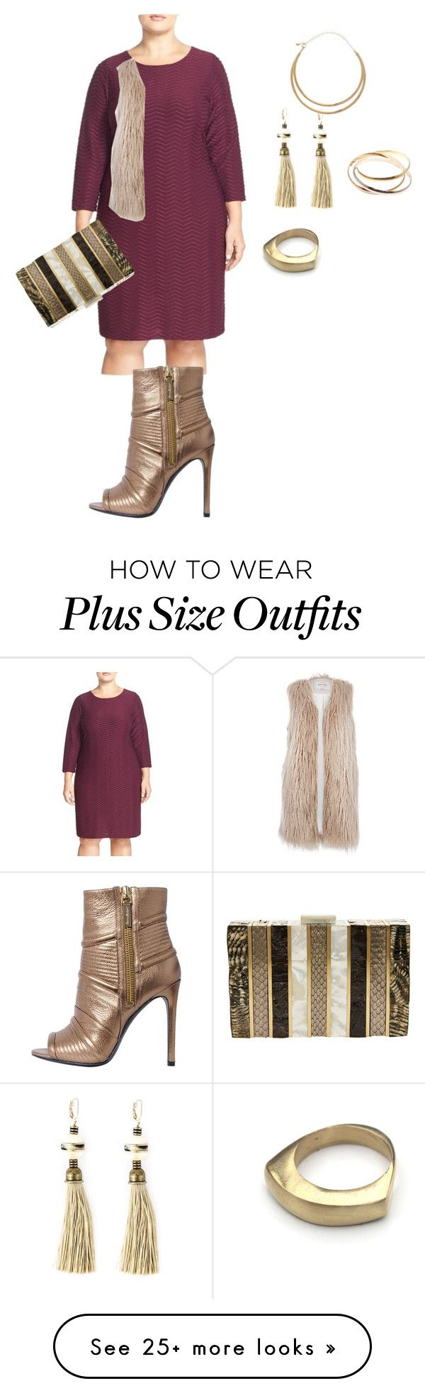 """plus size diva ready"" by kristie-payne on Polyvore featuring Calvin Klein, Pierre Balmain, River Island, Lanvin, Emm Kuo, M&Co and plus size dresses"