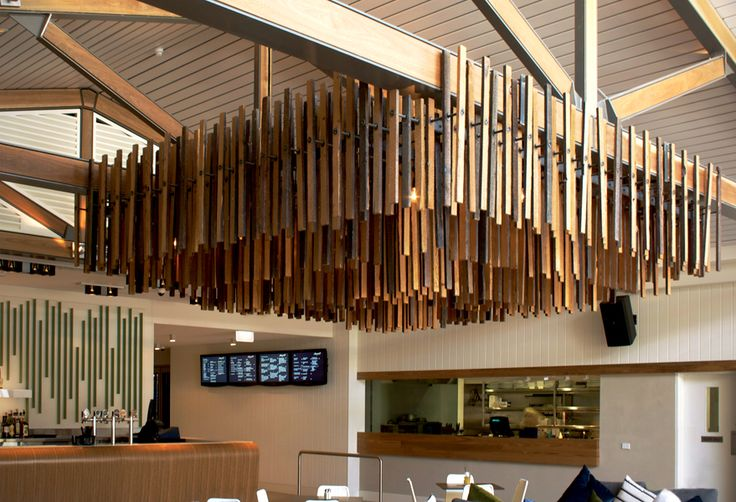 Recycled timber slats used for a Custom Lighting Design Job Sydney, Architectural Lighting by Di Emme Creative Solutions