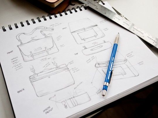 Messenger Bag Process: From Sketch to Finished Product #ugmonk #fashiondesign
