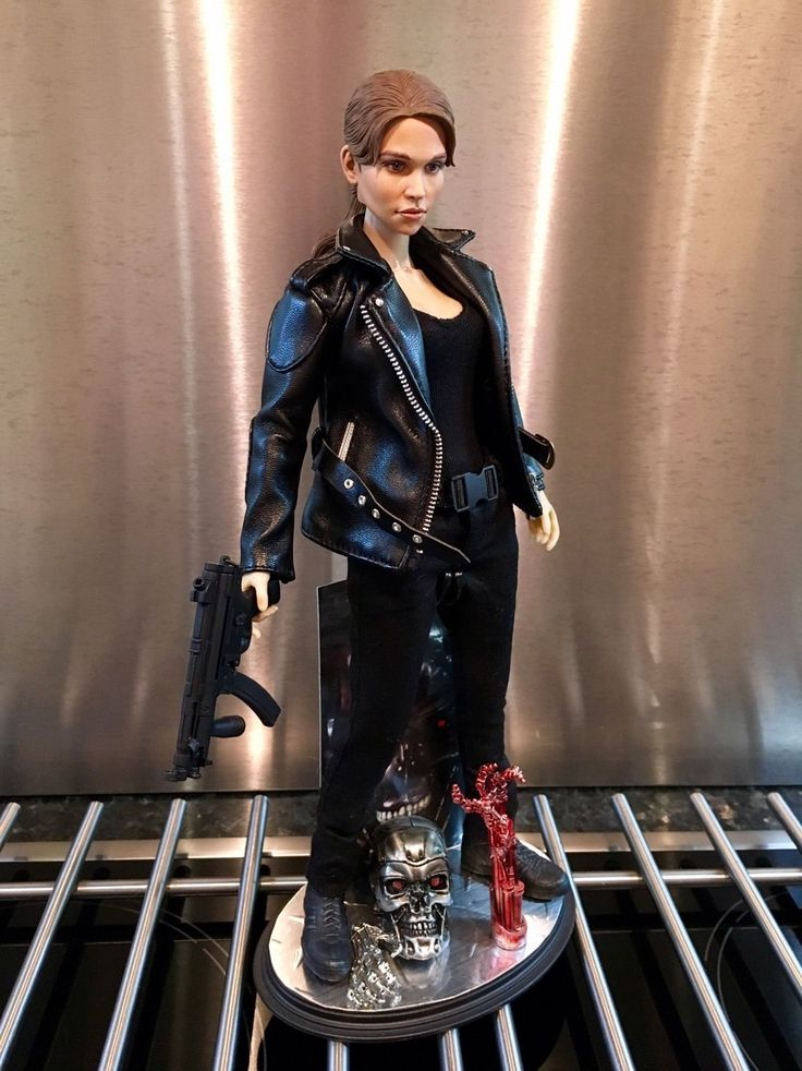 1/6 Custom Terminator Genisys Emilia Clarke Figure And Art Stand Not Hot Toys   eBay