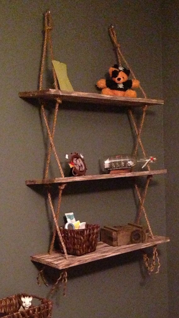 Vintage rope shelves on Etsy, $70.00