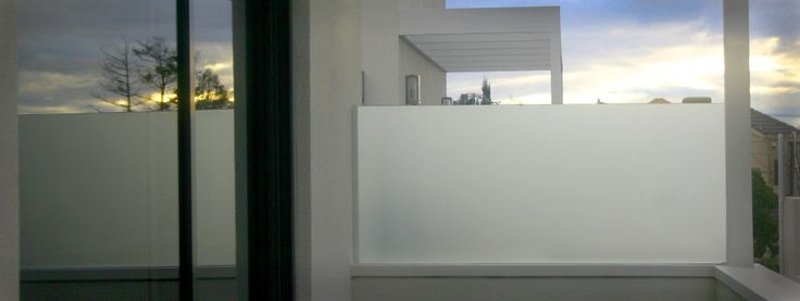 Glass Privacy Screen Frosted Glass On Balcony Mews