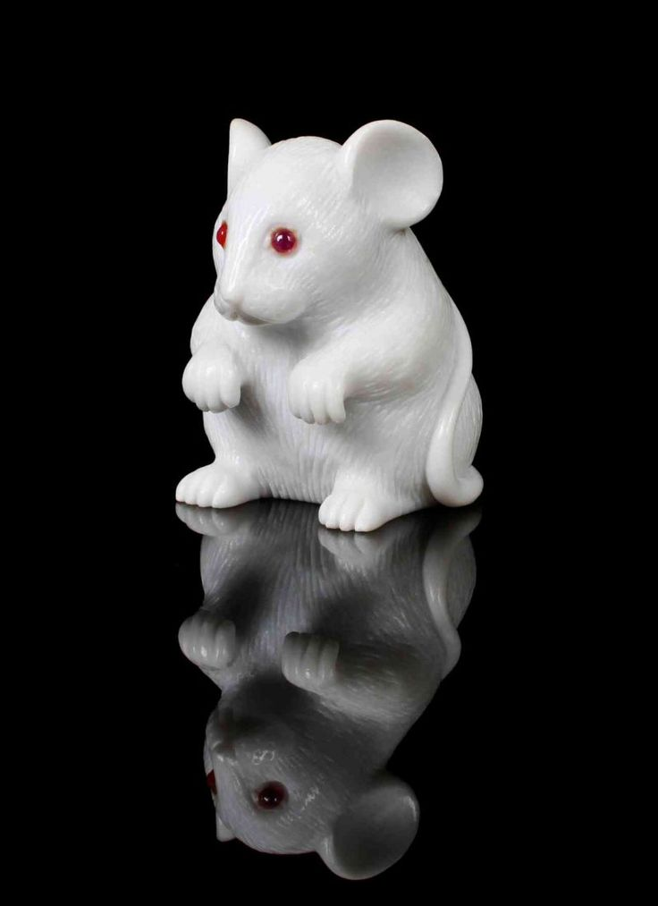 Carved white dolomite mouse with inset ruby eyes. Idar-Oberstein, Germany. Carved from white dolomite from the Italian Alps. http://www.invaluable.com/auction-lot/a-carved-dolomite-and-ruby-mouse,,-idar-oberstein-217-c-885e21a2e6