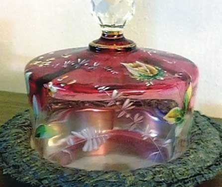 dome butter dish | MCT photo - The glass dome on this Victorian butter dish is known as ...