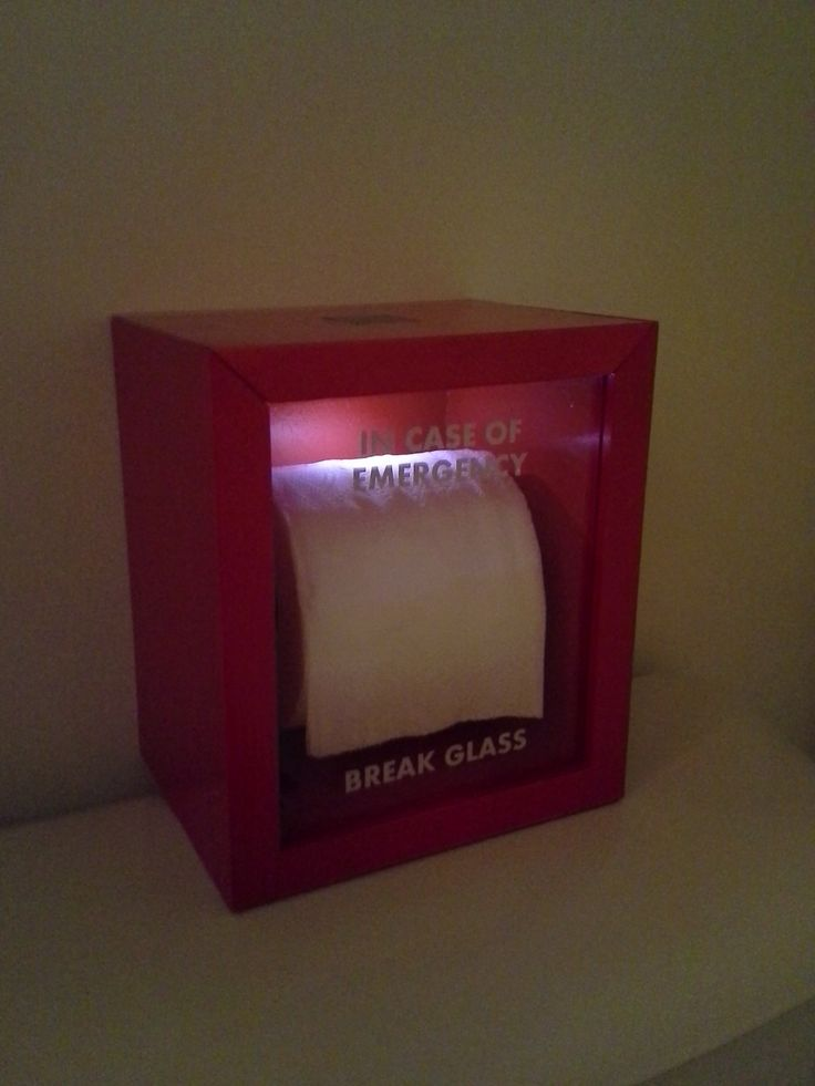 Break Glass In Case Of Emergency Toilet Paper Diy Gifts