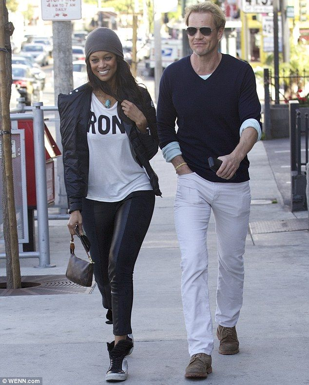Love is in the air! Tyra Banks couldn't stop smiling as she enjoyed a lunch date with her beau Erik Asla at Pearl's Liquor Bar in West Holly...