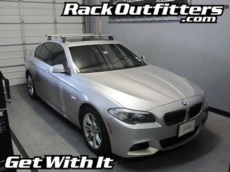 BMW 5-Series 4-dr Sedan Thule Rapid Podium SILVER AeroBlade Roof Rack '11-'13*