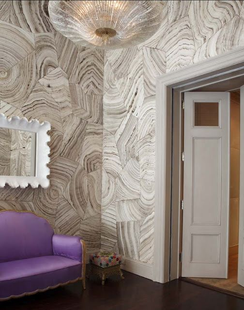 Cole & Son malachite wallpaper: Fake Wood, Design Interiors, Architecture Interiors, Hotels Interiors, Agates, Wall Treatments, Wallpapers, Paintings Wall, Jewelry Wall