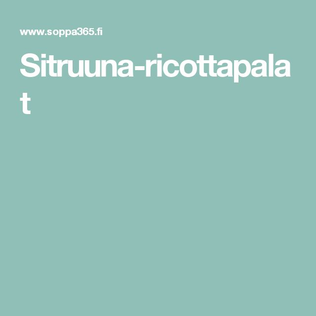 Sitruuna-ricottapalat