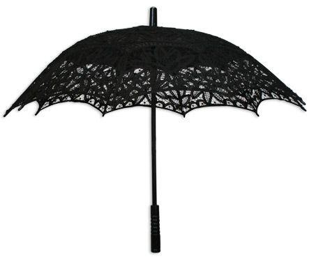 Battenberg Lace Parasol, Black