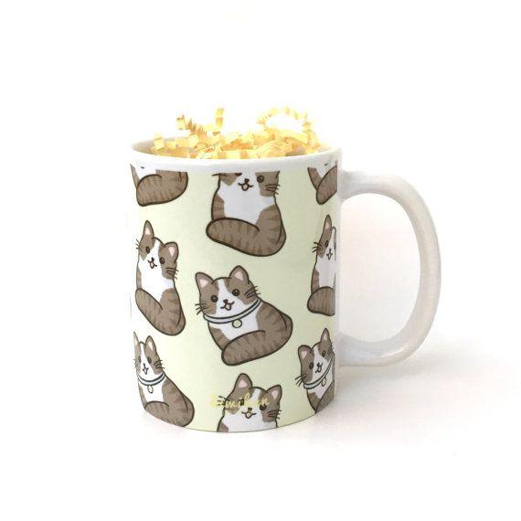 Cat Mug by Etsy user Kiwihen