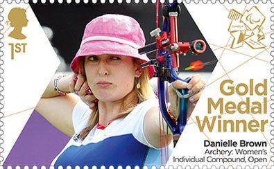 Paralympics Team GB Gold Medal Winners 1st Stamp (2012) Archery: Women's Individual Compound, Open - Paralympics Team GB Gold Medal Winners