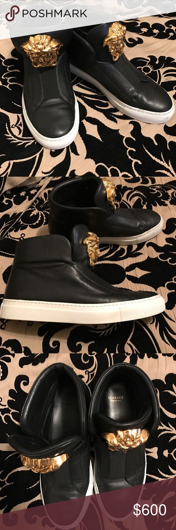 Versace Sneakers 💯 Very much loved, super comfy. Possibly can sale the matching belt as well if you wear a 28 waist... All items on my page are authentic. Size 36 but fits like a 6.5 Versace Shoes Sneakers